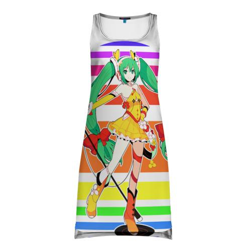 Платье-майка 3D  Фото 01, Веселая Хатсуне Мику