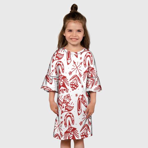 Детское платье 3D Сибирь Фото 01
