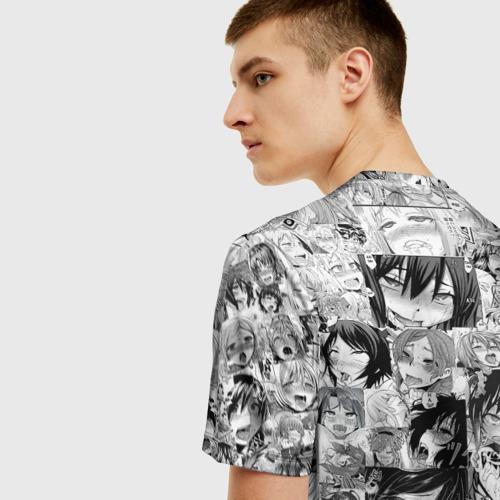 Мужская футболка 3D АХЕГАО ЛИЦА | AHEGAO FACES Фото 01