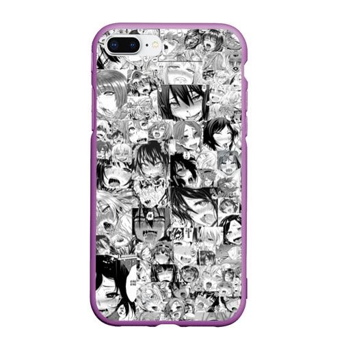 Чехол для iPhone 7Plus/8 Plus матовый АХЕГАО ЛИЦА   AHEGAO FACES Фото 01