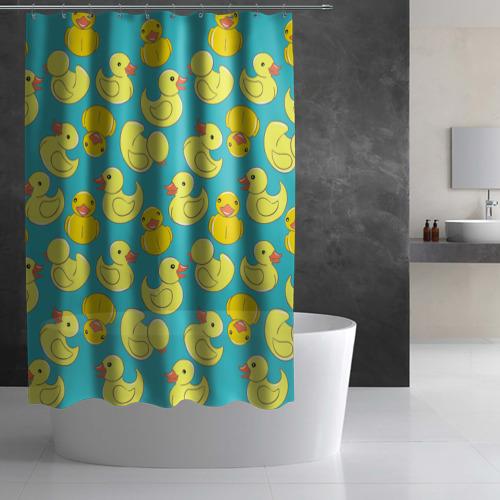 Штора 3D для ванной  Фото 02, Duck
