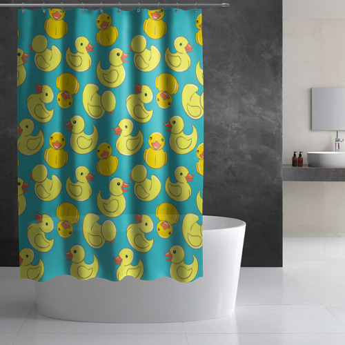 Штора 3D для ванной  Фото 03, Duck