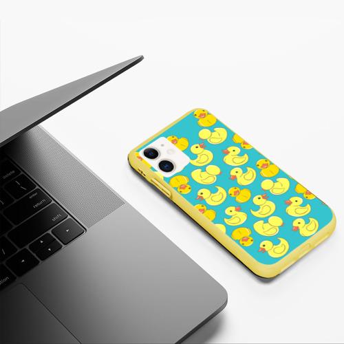 Чехол для iPhone 11 матовый Duck Фото 01