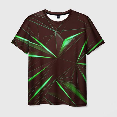 Мужская футболка 3D  Фото 01, STRIPES GREEN 3D
