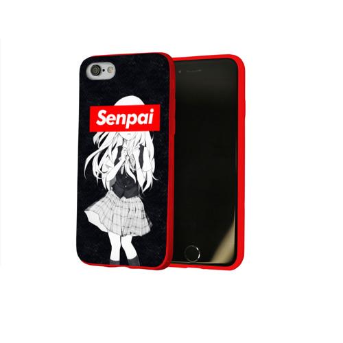 Чехол для Apple iPhone 8 силиконовый глянцевый Семпай - Senpai Фото 01
