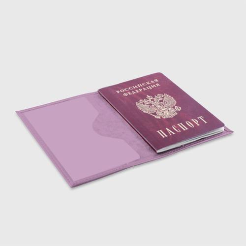 Обложка для паспорта матовая кожа BTS  Фото 01