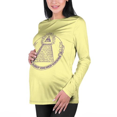 Женский лонгслив 3D для беременных  Фото 01, Всевидящее око