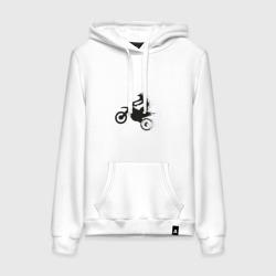 Силуэт мотоциклиста