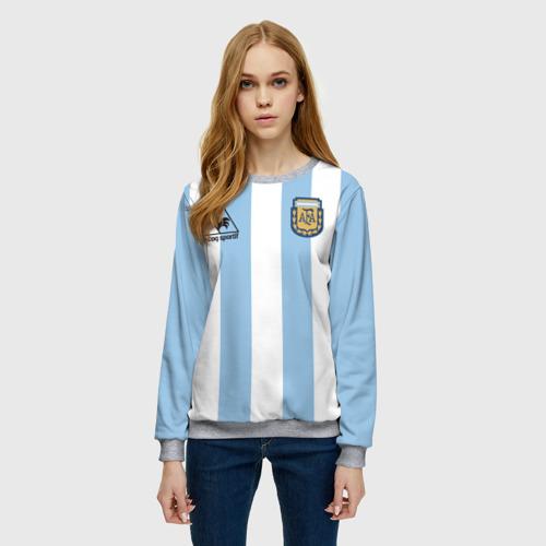 Женский свитшот 3D Марадона Аргентина ретро Фото 01