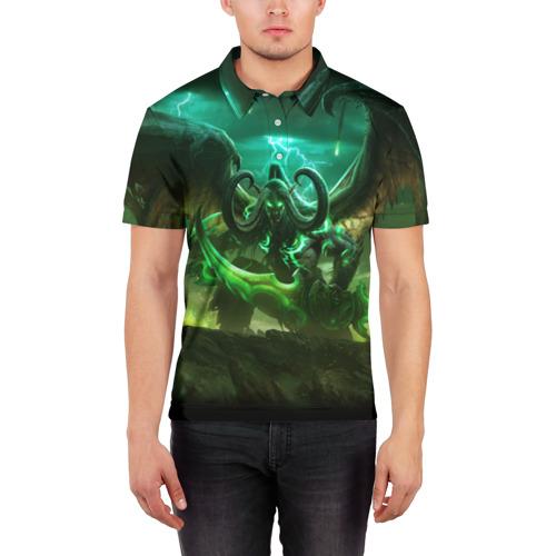Мужская рубашка поло 3D  Фото 03, World of Warcraft: Legion