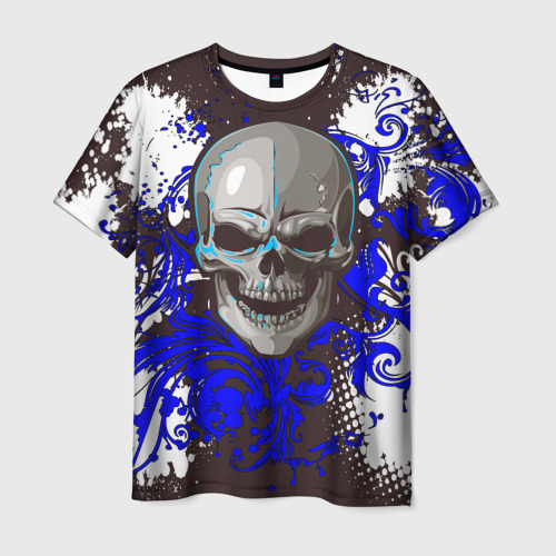 "ec3a814190f5a Мужская футболка 3D с принтом или надписью ""Pattern Skull"", артикул ..."