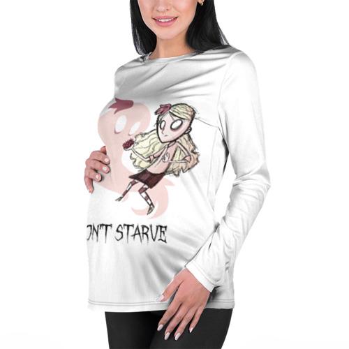 Женский лонгслив 3D для беременных  Фото 01, Don't starve