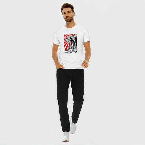 Мужская футболка хлопок Slim  GODZILLA   ГОДЗИЛЛА Фото 01