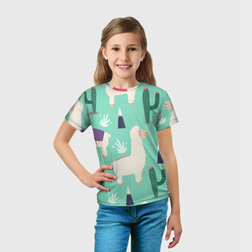 Детская футболка 3D Альпаки Фото 01