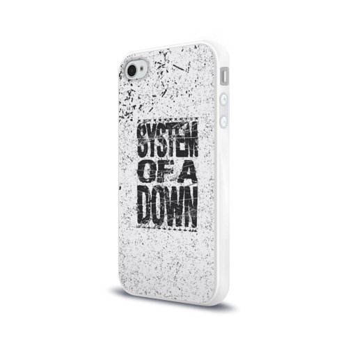Чехол для Apple iPhone 4/4S силиконовый глянцевый System of a Down Фото 01