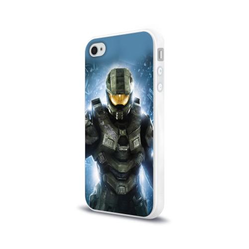 Чехол для Apple iPhone 4/4S силиконовый глянцевый Halo Фото 01