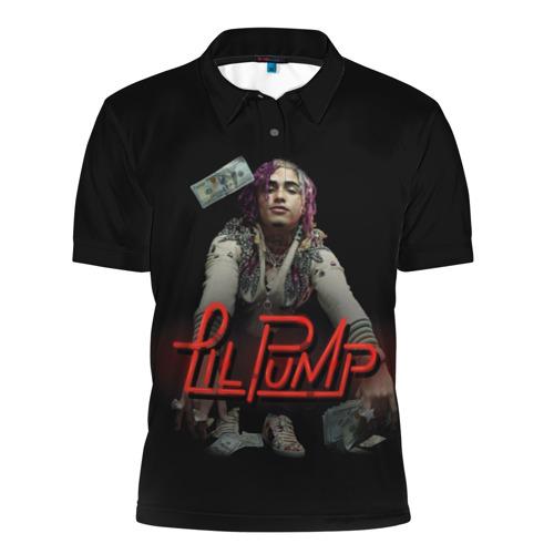 Мужская рубашка поло 3D  Фото 01, Lil Pump