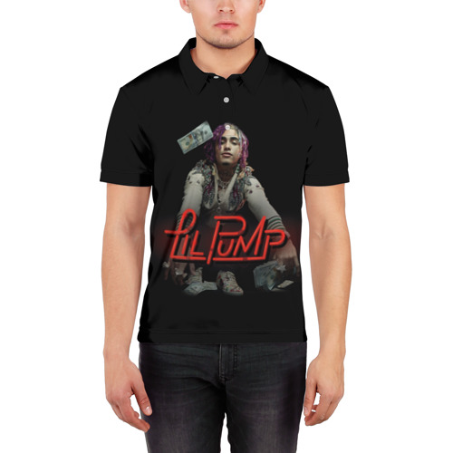 Мужская рубашка поло 3D  Фото 03, Lil Pump
