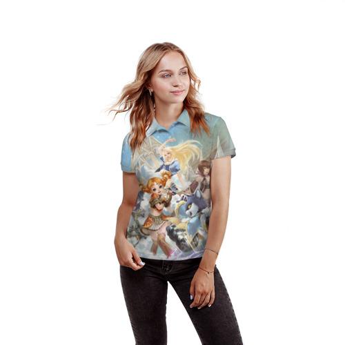 Женская рубашка поло 3D La la la Фото 01