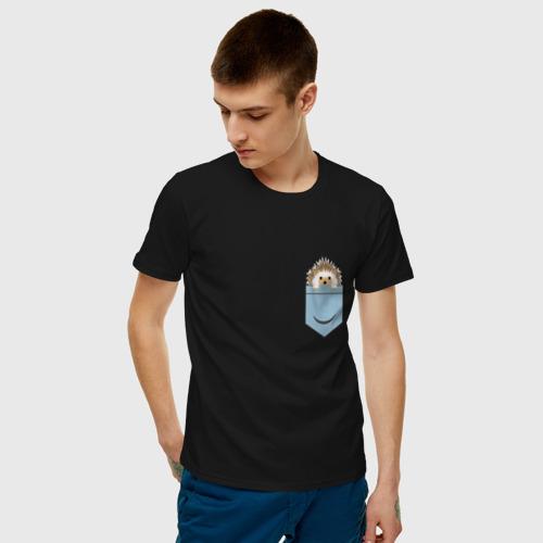 Мужская футболка хлопок Ёжик в кармане  Фото 01
