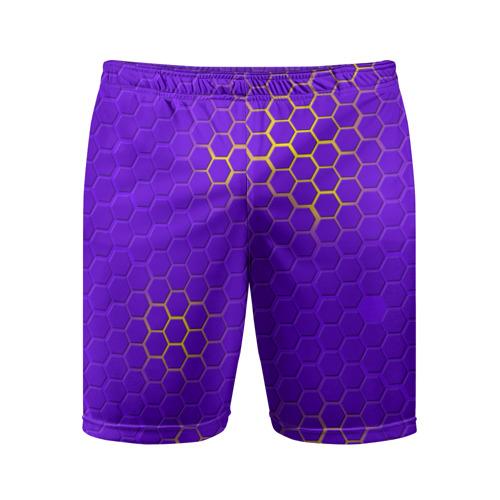 Мужские шорты 3D спортивные ФИОЛЕТОВАЯ БРОНЯ
