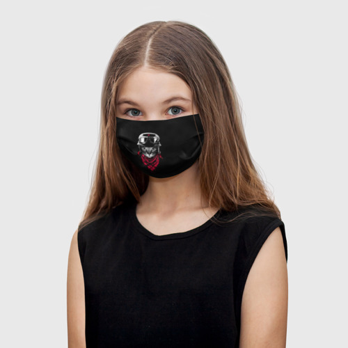 Детская маска (+5 фильтров) Кот Пилот Фото 01