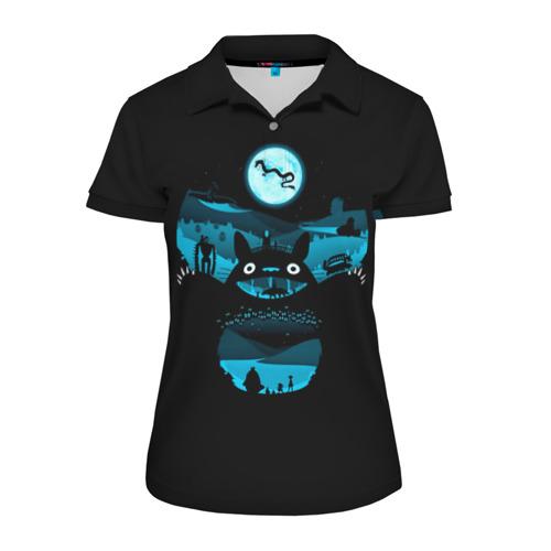 Женская рубашка поло 3D  Фото 01, Тоторо