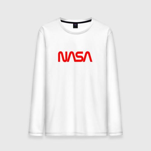 Мужской лонгслив хлопок NASA red Фото 01