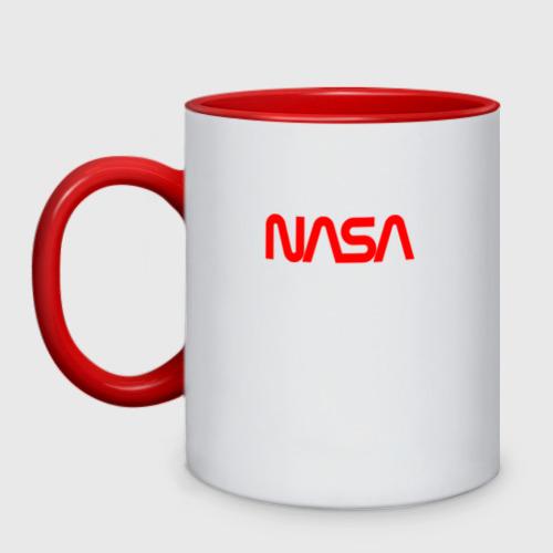 Кружка двухцветная NASA red Фото 01