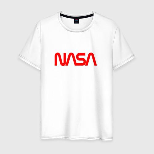 Мужская футболка хлопок NASA red Фото 01