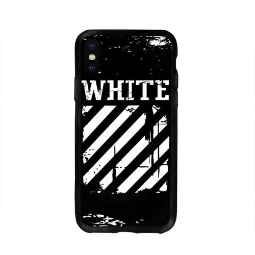 Чехол для Apple iPhone X силиконовый глянцевый Off white Фото 01