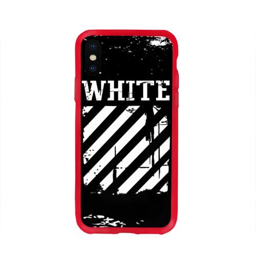 Чехол для iPhone X глянцевый Off white Фото 01