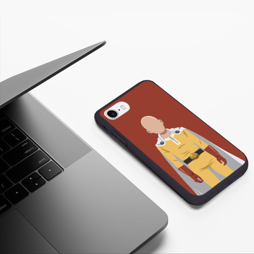 Чехол для iPhone 7/8 матовый Сайтама ванпанчмен Фото 01