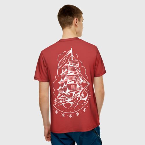 Мужская футболка 3D  Фото 02, Парусник