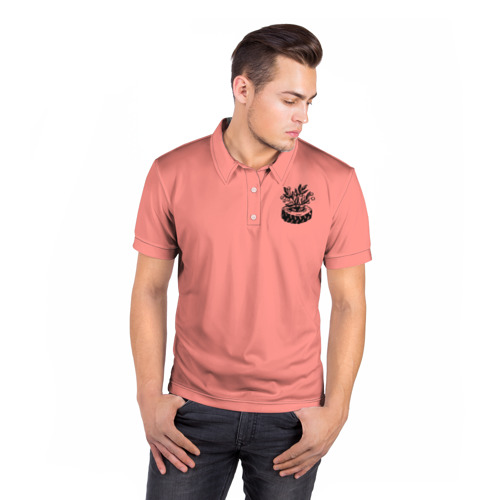 Мужская рубашка поло 3D Клумба Фото 01