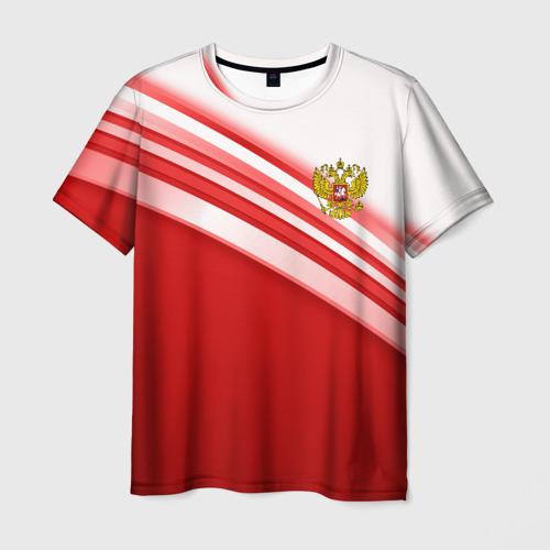 RUSSIA SPORT (мужская футболка 3d с полной запечаткой)