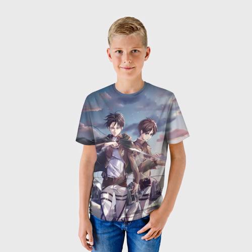 "Детская 3D футболка ""Levi and Eren"" фото 0"