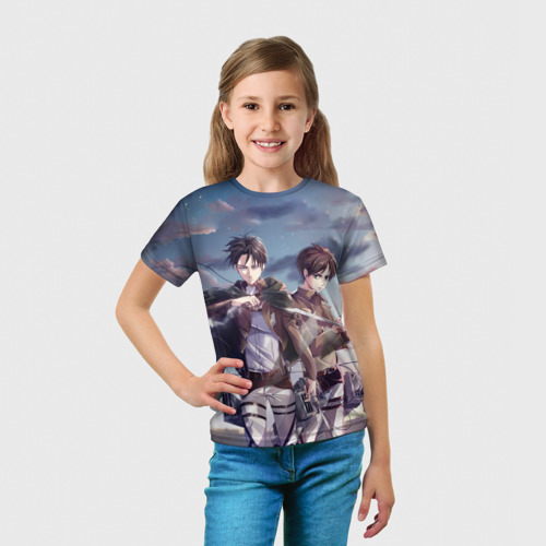 "Детская 3D футболка ""Levi and Eren"" фото 2"
