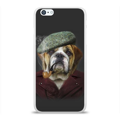 Чехол для Apple iPhone 6Plus/6SPlus силиконовый глянцевый  Фото 01, Бульдог