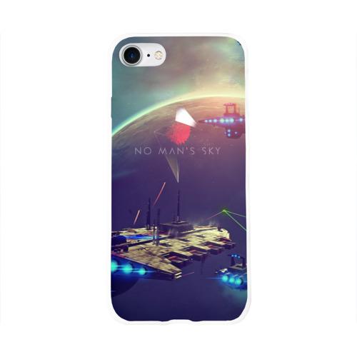 Чехол для Apple iPhone 8 силиконовый глянцевый  Фото 01, No Man's Sky - Space