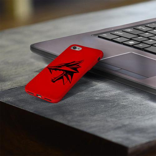 Чехол для Apple iPhone 8 силиконовый глянцевый Ведьмак Фото 01