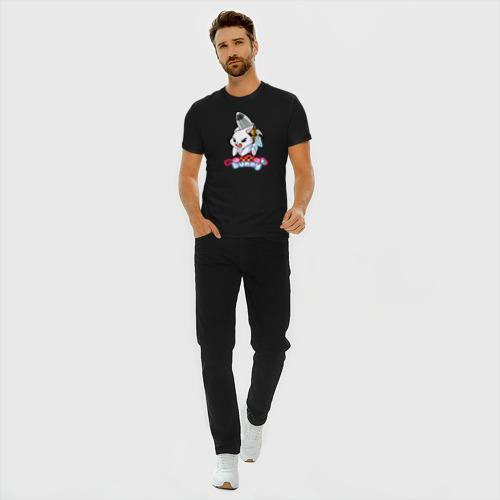Мужская футболка хлопок Slim Rocket bunny Фото 01