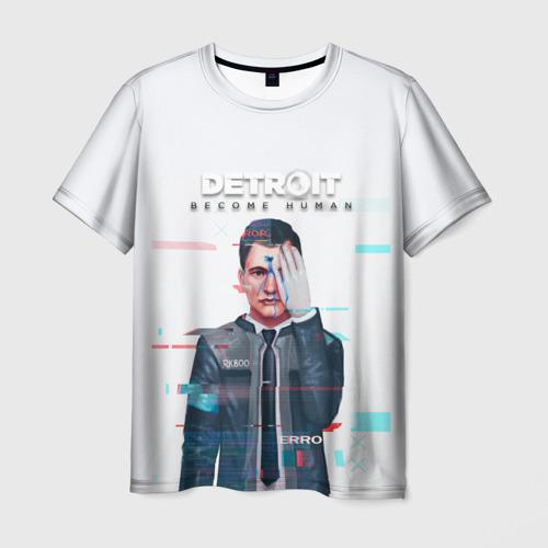 Мужская футболка 3D  Фото 01, Detroit:become human Connor