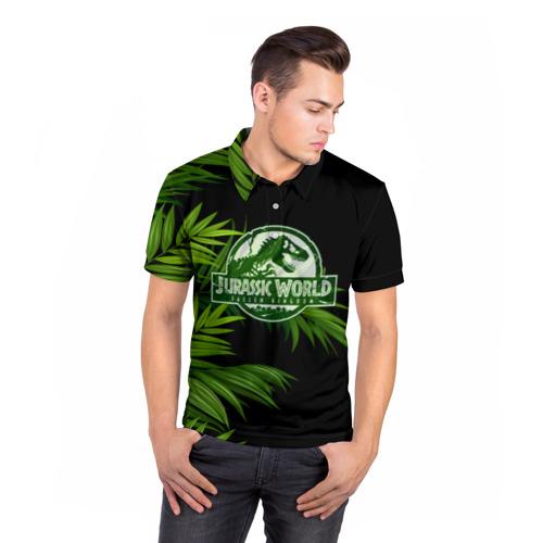 Мужская рубашка поло 3D JURASSIC WORLD Фото 01