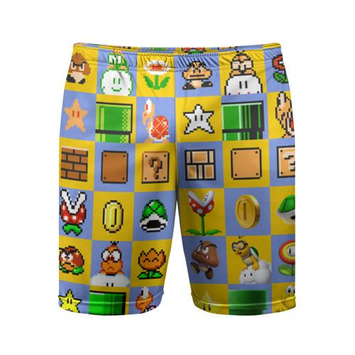 Мужские шорты 3D спортивные  Фото 01, Super Mario Pop art