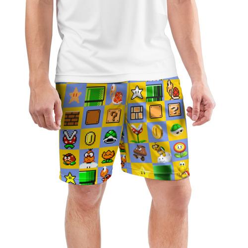 Мужские шорты 3D спортивные  Фото 03, Super Mario Pop art