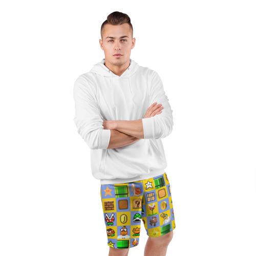 Мужские шорты 3D спортивные  Фото 05, Super Mario Pop art