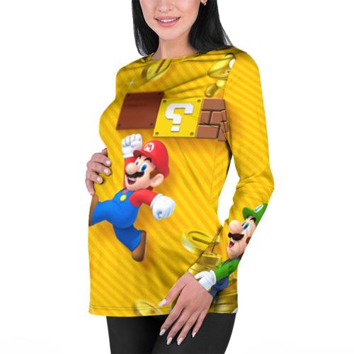 Женский лонгслив 3D для беременных  Фото 01, Супер Марио