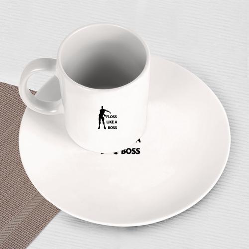Набор: тарелка + кружка Floss like a boss  Фото 01