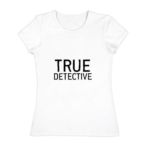 Женская футболка хлопок Настоящий детектив